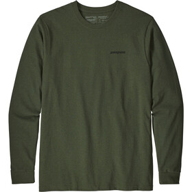 Patagonia P-6 Logo LS Responsabili-Tee Hombre, nomad green
